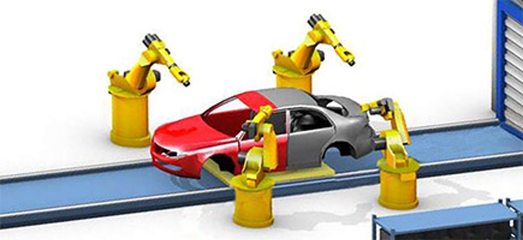 Rexroth automotive painting assembly line