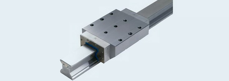 Reel rail guidance linear motion technology for cutting machine tools