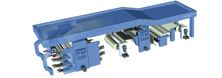 a flexographic printing press, Bosch Rexroth printing and converting