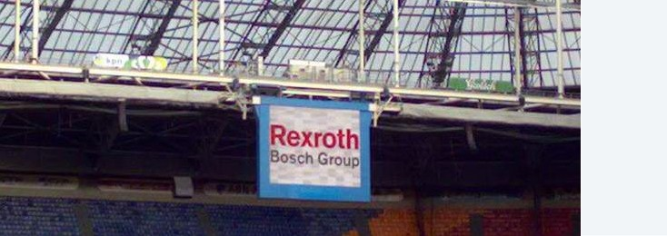 Rexroth advertisement inside the Amsterdam ArenA