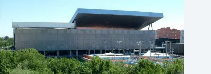This new tennis stadium was built on behalf of Madrid to host the Olympic Games 2020 and is based on a draft of the French star architect Dominique Perrault.