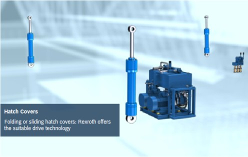 Hydraulic cylinders & hydraulic power units for hatch covers