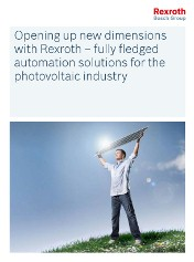 New brochure details on Automation Solutions for Photovoltaic Industry