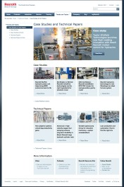 New Bosch Rexroth landing pages