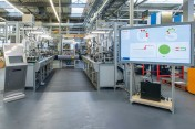 The Industry 4.0 assembly line at Bosch Rexroth in Homburg, Germany