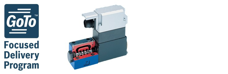 4WRREH High-response directional control valves, direct operated with eletrical position feedback and OBE