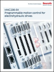 HNC100-3X Programmable motion control for electrohydraulic drives