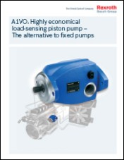 A1VO: Highly economical load-sensing piston pump – The alternative to fixed pumps