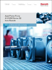 The Next Generation: A10VSO Axial Piston Pump Series 32 from Rexroth